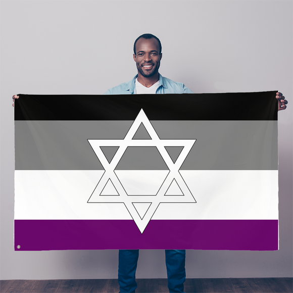 Asexual Pride Star of David Sublimation Flag