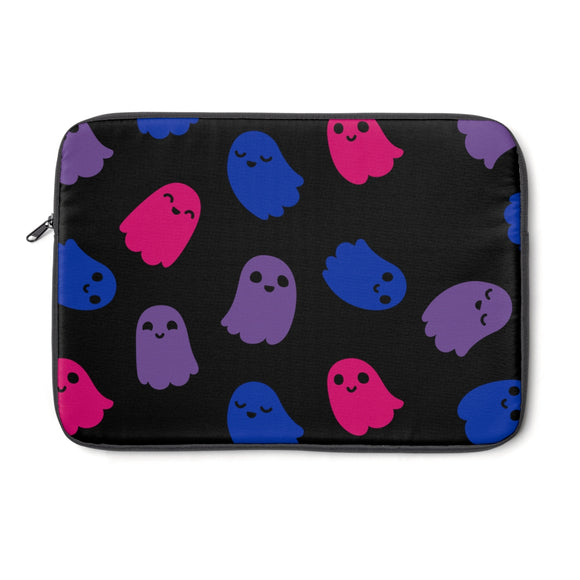 Bi Pride Ghosts Laptop Sleeve