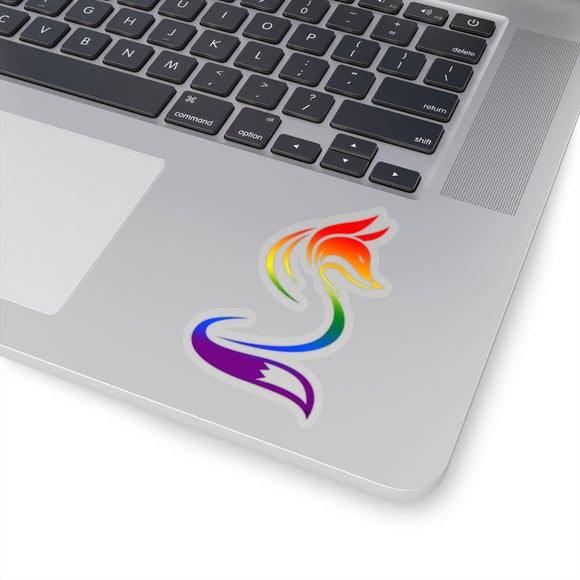Rainbow Gay Pride Fox Kiss-Cut Stickers