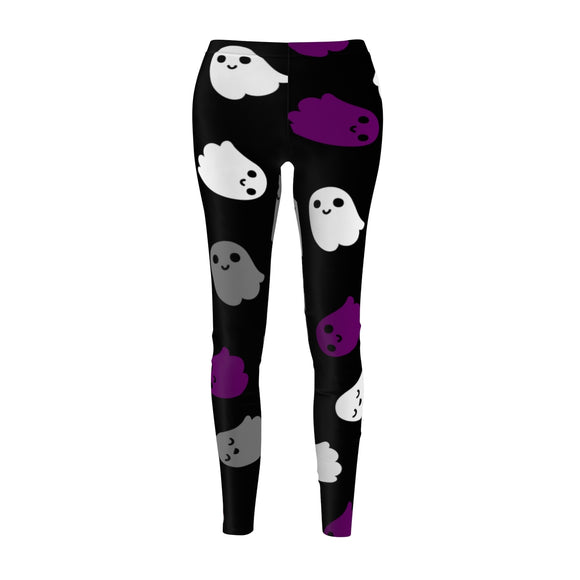 Asexual Pride Ghosts Casual Leggings