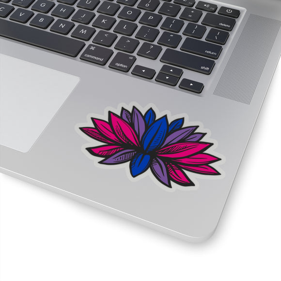 Bisexual Pride Lotus Kiss-Cut Stickers