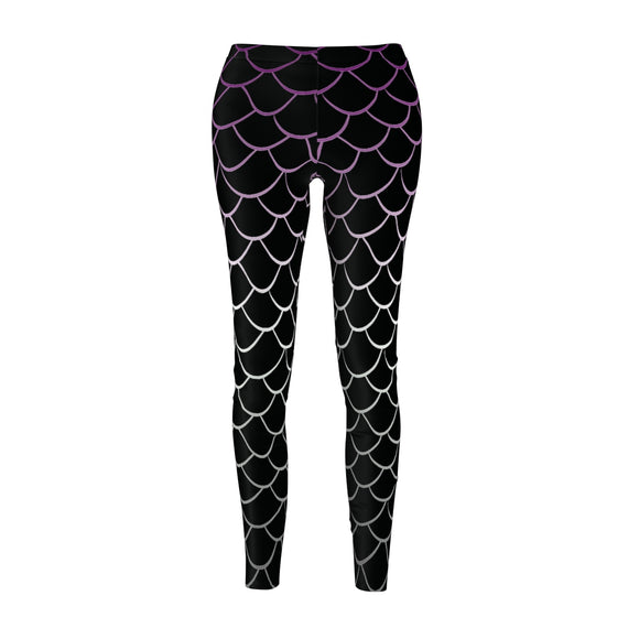 Asexual Pride Dragonscale Casual Leggings