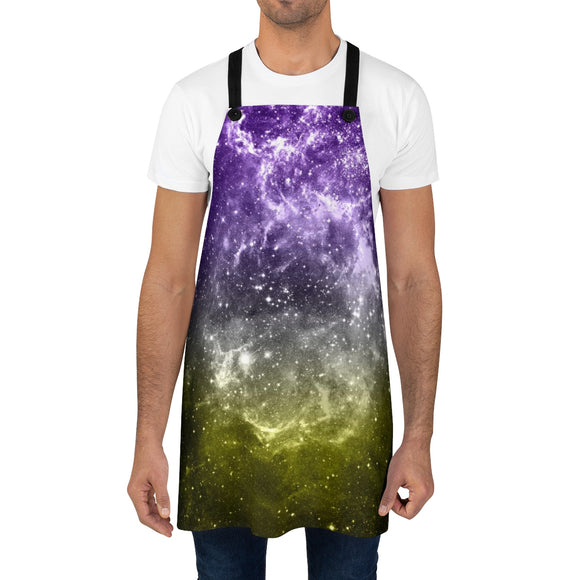 Non-Binary Pride Galaxy Apron