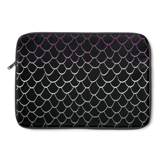 Asexual Pride Dragonscale Laptop Sleeve