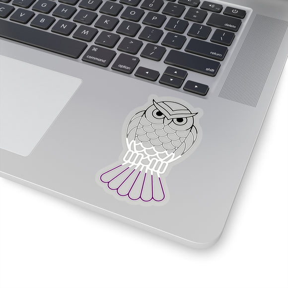 Asexual Pride Owl Kiss-Cut Stickers