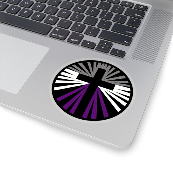 Asexual Pride Cross Kiss-Cut Stickers