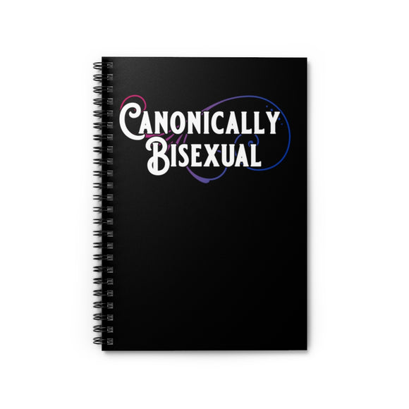 Canonically Bisexual Pride Spiral Notebook - Ruled Line