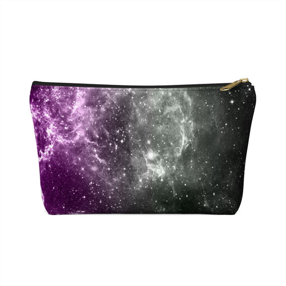 Aromantic and Asexual Pride Galaxy Accessory Pouch w T-bottom