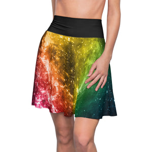 Pansexual Pride Galaxy Skater Skirt