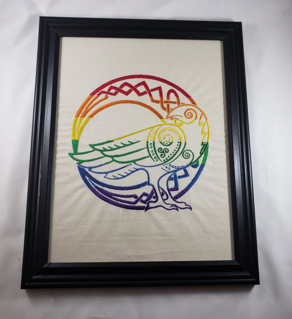 Rainbow Gay Pride Celtic Knotwork Corvid Wall Art
