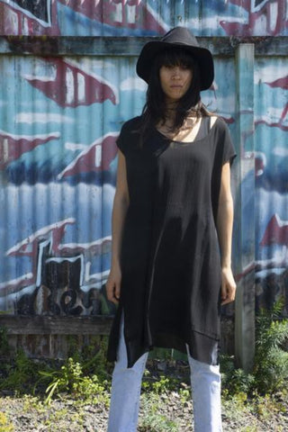 Burst at the Seams Tunic /Black /OS