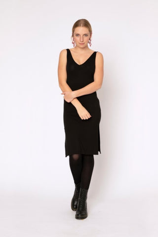 Rayon Slip Dress /Black