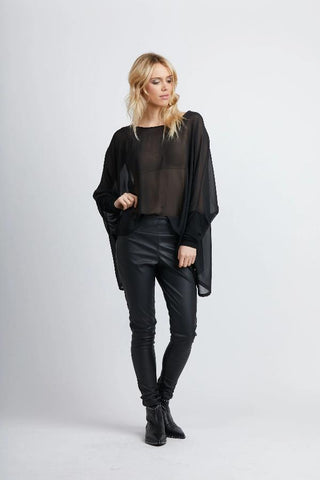 Jan Top /Black Sheer
