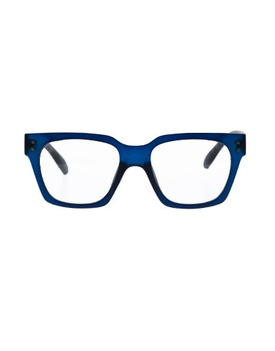 10am Dark Blue Reading Glasses /2.0