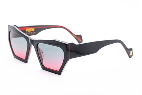 Magenta Black w Red Fade Sunglasses