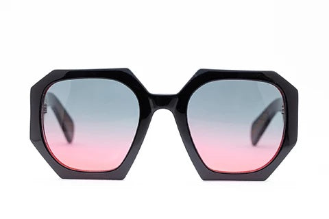 Hostage Sunglasses /Black with Red