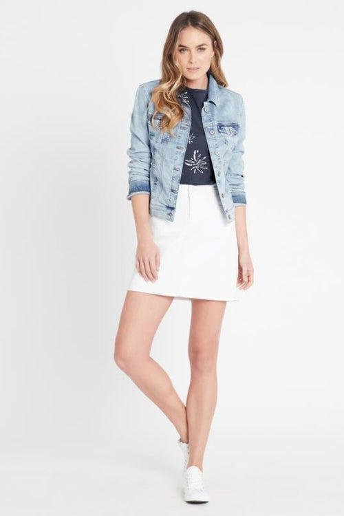 Samantha Bleach Vintage  Denim Jacket