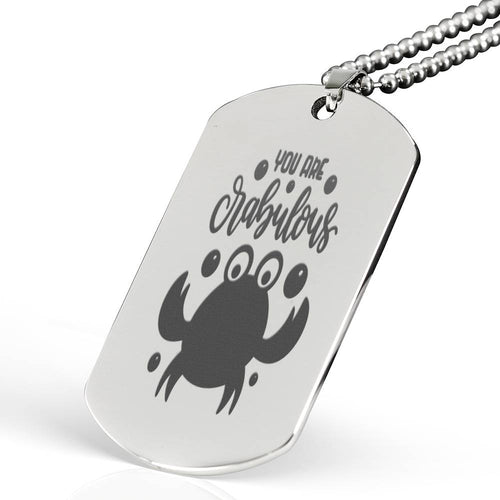 You Are Crabulous Dog Tag