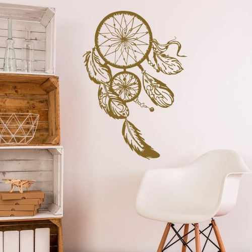 Blowing Dream Catcher Wall Decal - Wall Decor