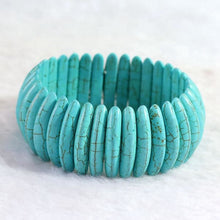 Load image into Gallery viewer, Blue Calaite Turquoise Stone - bracelet
