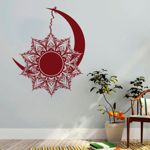 Bohemian Moon And Sun Wall Decal - wall decal