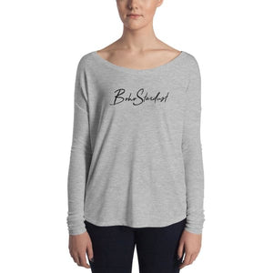 Boho Stardust Ladies Long Sleeve Tee - Athletic Heather / S