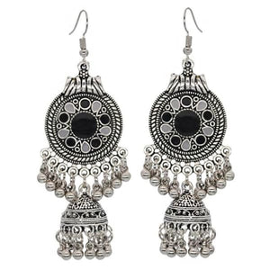 Boho Vintage Style Earrings - Black 1 - earrings