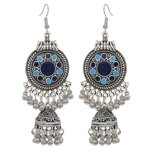 Boho Vintage Style Earrings - Blue 1 - earrings