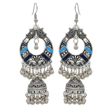 Load image into Gallery viewer, Boho Vintage Style Earrings - Blue 2 - earrings