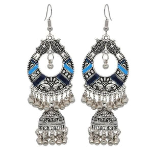 Boho Vintage Style Earrings - Blue 2 - earrings