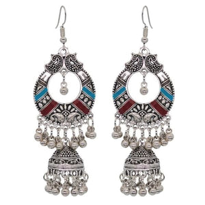 Boho Vintage Style Earrings - Red 2 - earrings