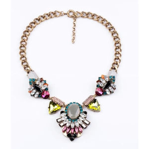 Chunky Necklace Vintage-Inspired Choker - Necklace
