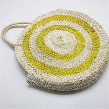 Load image into Gallery viewer, Circular Straw Beach Tote - bag