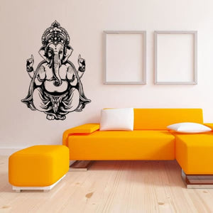 Ganesh God Yoga Wall Decal - wall decal