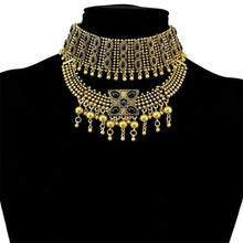 Load image into Gallery viewer, Gypsy Boho Chunky Choker - N-6575-G - Necklace