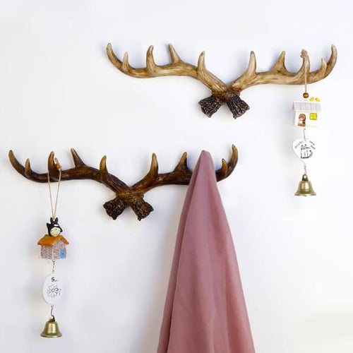 Nordic Style Resin Deer Horn Wall Hanging - wall hanging