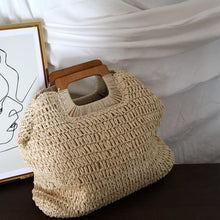 Load image into Gallery viewer, Oversized Straw Tote - bag