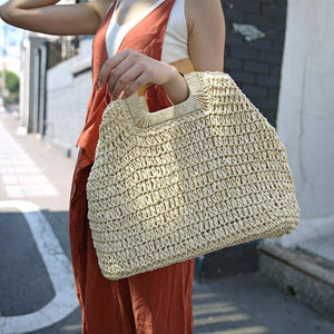 Oversized Straw Tote - bag