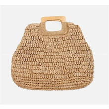 Load image into Gallery viewer, Oversized Straw Tote - brown - bag