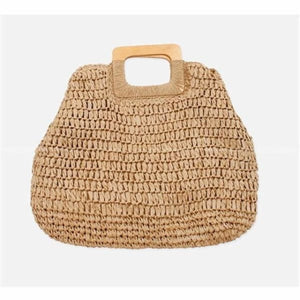 Oversized Straw Tote - brown - bag