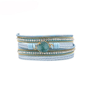 Energy Multilayer Leather Wrap Bracelet