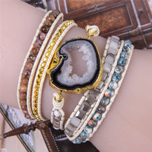 Load image into Gallery viewer, Earth Element Druzy Wrap Bracelet