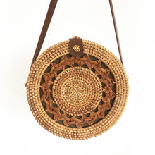Load image into Gallery viewer, Round Rattan Bag