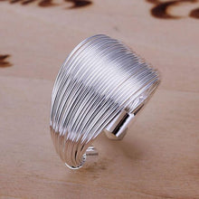 Load image into Gallery viewer, Silver Multi-Line Ring - ring