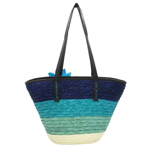 Snappy Straw Tote - bag