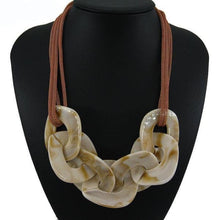 Load image into Gallery viewer, Statement Resin Necklace - cream / Blue / 50cm - Necklace