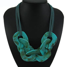 Load image into Gallery viewer, Statement Resin Necklace - green / Blue / 50cm - Necklace