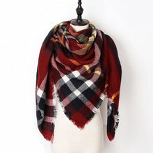Load image into Gallery viewer, Stunning Plaid Cashmere Blend Scarf - number 03 - scarf