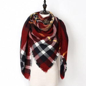 Stunning Plaid Cashmere Blend Scarf - number 03 - scarf