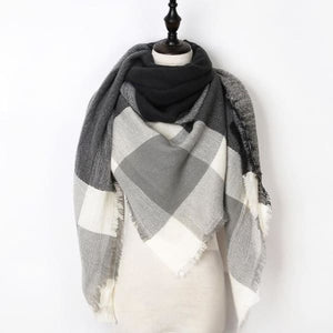 Stunning Plaid Cashmere Blend Scarf - number 07 - scarf